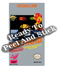 Metroid Nes Cartridge Replacement Game Label Sticker Precut