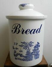 Vintage Blue Willow by Regal ceramic bread bin