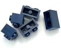 Lego 5 New Dark Blue Bricks Modified 1 x 2 with Studs on 1 Side Pieces