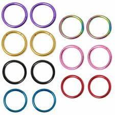 "Segment Ring Hoop 16g 3/8""(10mm) Seamless Anodized  2pc"