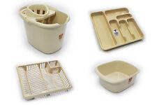 Set di 4 in plastica MOCIO Secchio DISH DRAINER Posate Vassoio Rettangolare Ciotola farina d'avena