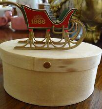 1986 Hallmark Keepsake Country Sleigh Mint In Box