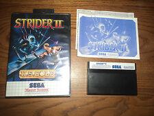 Strider II Sega Master System Game Complete