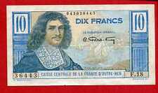 (Ref: F.18) 10 FRANCS COLBERT CAISSE CENTRALE D'OUTREMER TYPE 1946 (SUP)