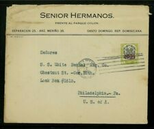 Dominican Republic 1922 Commercial Cover Santo Domingo to Pa franked Scott 228