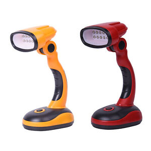 ABS Thermoplastic Polymer Set of 2 Flexible Desk LED Light Lamp Yellow Red