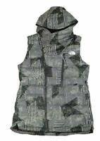 The North Face Womens Niche Down Vest Peat Grey/Thick Print