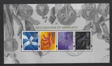 Gran Bretagna 2020 Declaration Of Arbroath Miniatura Foglio Sottile Usata
