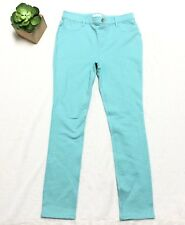 Childrens Place Girls 14 Turquoise Skinny Jeans With Silver Metallic NEW