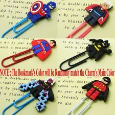 6pcs/set Super Heroes Cartoon Bookmarks PVC Paper Marks/Clips Children Gifts
