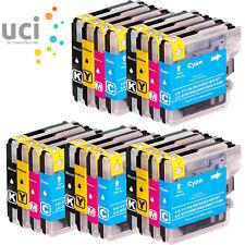 5 Conjuntos de Cartuchos de tinta para Brother LC1100 LC980 DCP 375CW 377CW 385C 395CN 585CW