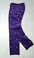 RALPH LAUREN POLO GOLF CORDUROY EMBROIDERED COLLEGE PURPLE MEN'S PANT 32X34