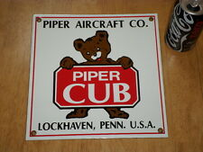 PIPER AIRCRAFT CO. - PIPER CUB, ADVERTISING ENAMEL TIN WALL SIGN,VINTAGE & ORIG