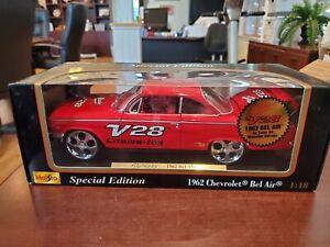 1962 Chevy Bel Air Milwaukee V28 Red 1:18 Monster Garage Maisto DieCast MIB