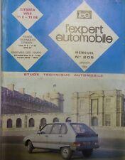 Revue technique CITROEN VISA 11E 11 RE 1124cm3 4 cylindres RTA EXPERT 205 1984