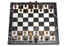 Premium Marmor wirkung Schach Set 45x45 cm Holz Falten Tuch Top Qualität