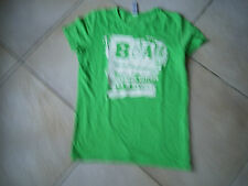 T-Shirt Vert Inscriptions Blanches Boulevard Des Airs Taille S Marque B&c