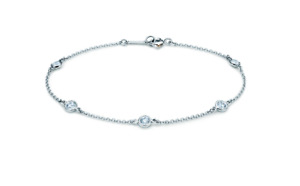 Tiffany & Co. Elsa Peretti® Diamonds by the Yard ® Bracelet 7inch -17.78cm Box
