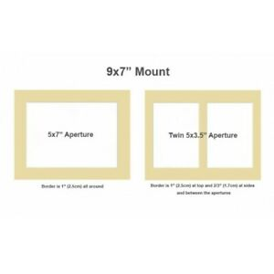 """5x3.5"""" twin 7x9"""" photo picture mount"""