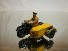 DINKY TOYS 4272 MOTORCYCLE ANWB DUTCH - YELLOW + BLACK 1:43? - GOOD CONDITION