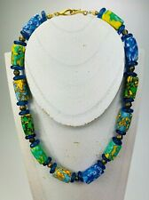 Kette Kroba Recycling Glas Ghana Ethno Beads Necklace BeadsCompany