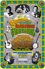 1974 GOLDEN STATE BLUEGRASS Festival Poster JIMMY MARTIN DOC AND MERLE WATSON
