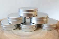 2oz SLIP LID COSMETIC TIN (15pcs) SALVE LIP BALM CANDLE WEDDING STORAGE