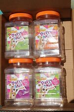 """Lot of 4, 20 oz Empty Plastic Containers with Lids, """"Party Mix"""" Free ship"""