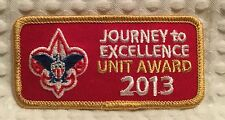 Boy Scouts 2013 Journey to Excellence Unit Award Patch