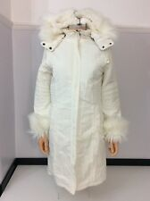 Oasis Womens Cream Coat Jacket Size 34 Uk 8  Vgc