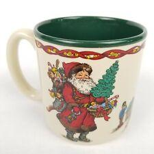 Vtg 90s Santa Coffee Mug Kris Kringle Potpourri Press Tea Cup Christmas Toys 91