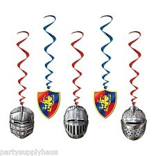 Game of Thrones MEDIEVAL CEILING WHIRLS (5 COUNT) Hanging PARTY DECORATIONS