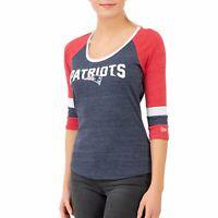 New Era NFL Women 3/4 Jersey Top - New England Patriots