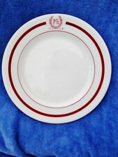 """c.1961 Walker China Laurel """"Ph"""" Red Striped Restaurant Ware Dining 9"""" Plate"""