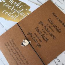 Wish Bracelet / Charm Bracelet - Take Pride In How Far You Have Come...
