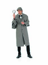 Mens Victorian Detective Costume Adult Historical Sleuth Fancy Dress M L  XL