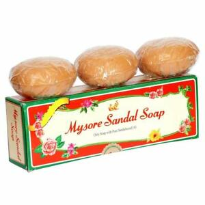 MYSORE SANDAL SOAP - PURE SANDALWOOD OIL 450g (150x3 = Pack Of 3) Free Shipp AU