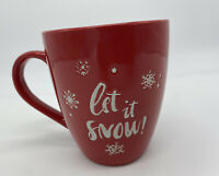 Christmas Mug LET IT SNOW Winter Coffee Cup Hot Cocoa 20 Oz New ..