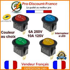 1 x Interrupteur à LED 6A 250V - 10A 125V Bouton Electrique Switch 20mm ON / OFF