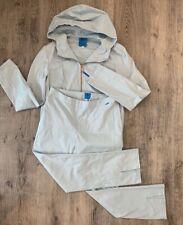 Women's Christian Lacroix Suit Jacket Pants Cotton Blue Size 42