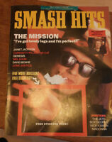 Smash Hits Mag 1987 - The Mission, Janet Jackson, David Bowie, Genesis + Loads