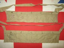 2 Post WW2 British Lee Enfield 303 Cloth Ammunition Bandoliers