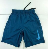 Nike Shorts Youth Small Blue Light Athletic Dr Fit Outdoors Kids Boys Basketball