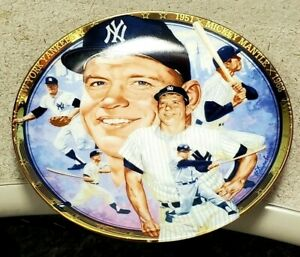 Mickey Mantle Plate-The Hamilton Collection w/ COA