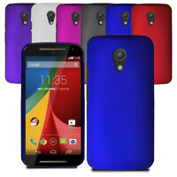 For Motorola Moto G 2nd Slim Hybrid Hard Case Clip On Cover & Screen Protector