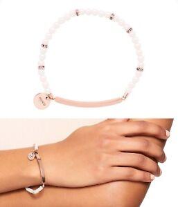 Mimco 💖 New Rose Gold Pearl Catnap Bracelet Beaded Wrist Bracelet  + Dust Bag