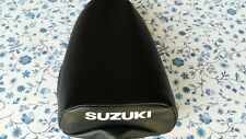 Suzuki JR50 1978-1985 replacement seat cover best quality white dyed logo(#4)