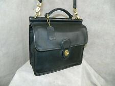 COACH Vintage WILLIS Bag 9927 Black Brass Exc