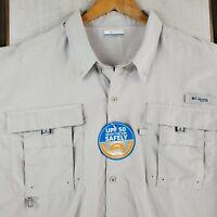 NWT COLUMBIA PFG Size 3XL Mens Omni-Shade Vented Loose Fishing Button Up Shirt