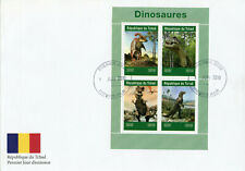 Chad 2019 FDC Dinosaurs T-Rex 4v M/S Cover Dinosaur Prehistoric Animals Stamps